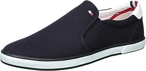 Tommy Hilfiger Herren Iconic Slip ON Sneaker Low-Top, Blau (Midnight 403), 41 EU