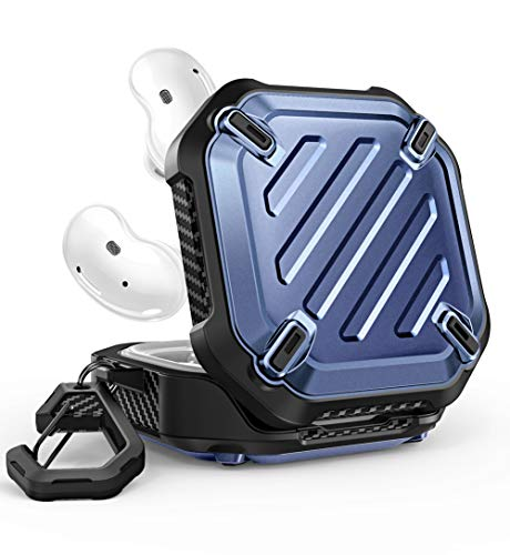 SUPCASE Unicorn Beetle Pro Series Case Designed for Galaxy Buds Live 2020 Release, Full-Body Rugged Protective Case with Carabiner (Tilt)