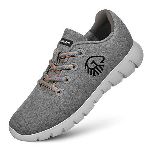 GIESSWEIN Merino Runners Men - Atmungsaktive Sneaker 100% Merino Wolle, Schnürer, Halbschuh, Freizeitschuh, Herren-Schuhe