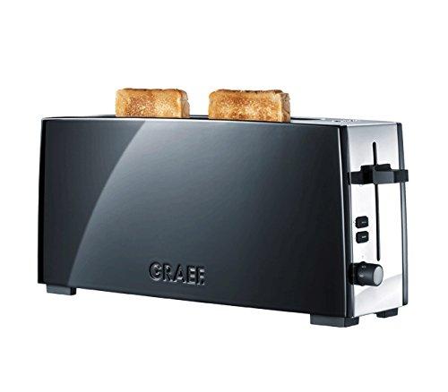 Graef TO92 TO 92 2-Scheiben-Toaster, aus Edelstahl und Aluminium, Stopp, Auftau-und Nachhebevorrichtung, Schwarz