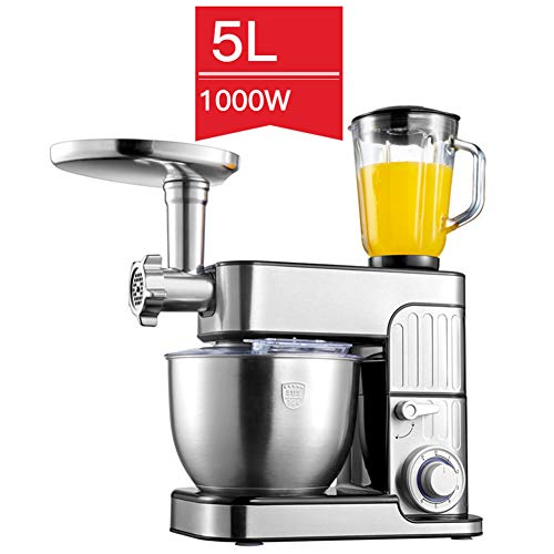 Blendermixer, 1000 Geluidsarme deegkneder, 6 snelheidsniveaus Roestvrijstalen kom, 7L multifunctionele automatische keukenrobot,A