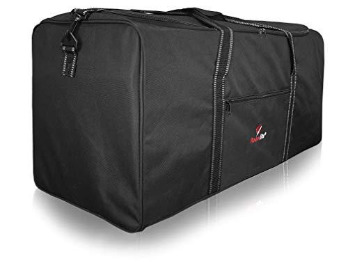 Roamlite XL Extra Große Reistasche in Reisegepäcksgröße - 100 110 Liter Schwarze Gepäck XXL Duffle Bag - 1 Riesige Tasche – Flach faltbar für Lagerung, Reise oder Wäsche - 86cm x36 x36 0,9kg - R34K