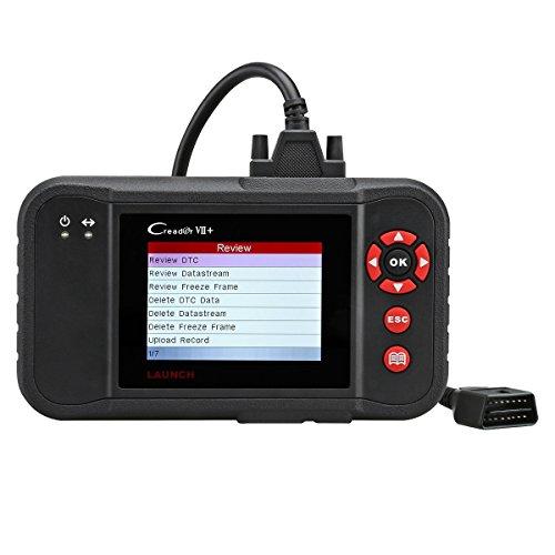 LAUNCH CReader VII + obd2 Diagnosegerät mit vollständige Funktionen, KFZ Diagnosegeräten für Autosystems Motor Getriebe ABS Airbag SRS, System-Update über PC, Deutsch verfügbar für Fahrzeugtypen