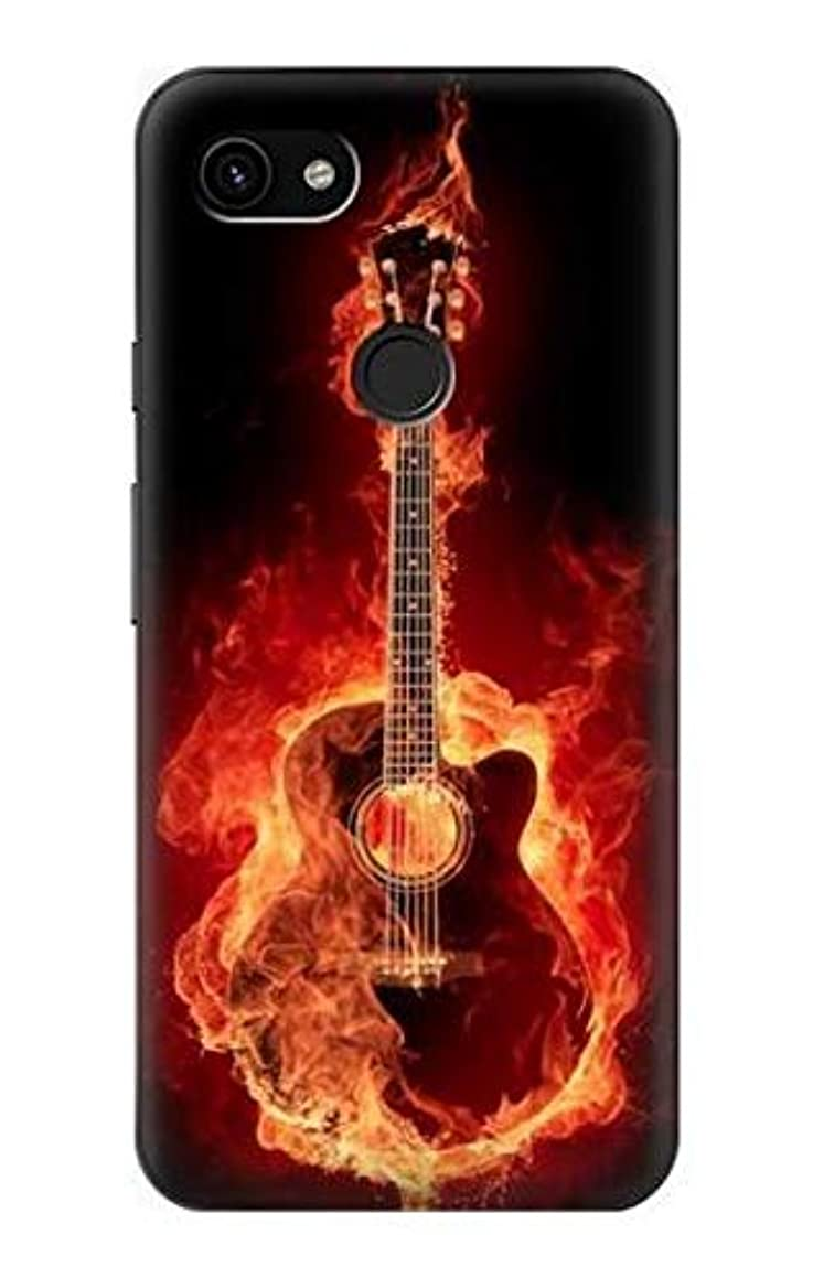 R0415 Fire Guitar Burn Case Cover for Google Pixel 3a XL