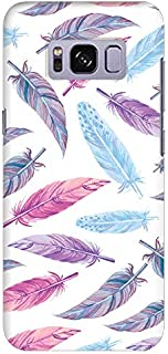 Stylizedd Samsung Galaxy S8 Slim Snap Case Cover Matte Finish - Feather Colors