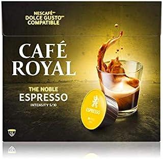 Café Royal Espresso 16 dosettes Compatibles avec le Système NESCAFE (R)* Dolce Gusto (R)*, Intensité 5/10