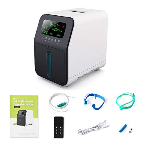 Sauerstoff Maschinen, OSITO 1-5L /min Tragbare Sauerstoffmaschine, 90% Hochrein Tragbar SauerstoffKonzentrator, Bewerben Sie sich bei Ältere Menschen, Schwangere Frauen, Kinder, Berufstätige Frauen