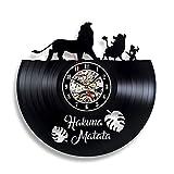 Gullei.com Disney Hakuna Matata Wanduhr aus Vinyl