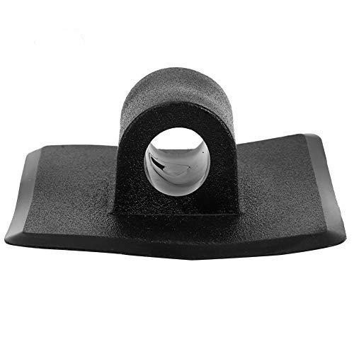 Tbest Clip de Soporte de Motor,2 Pcs Montaje de Clip de Motor de Plástico Negro Soporte de Motor reemplazo para Kayak Barco Pesca Canoa Bote Inflable
