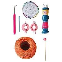 PEWETE 木製ハンディ編み機セット手作り人形ウール糸織りクラフトキット - B