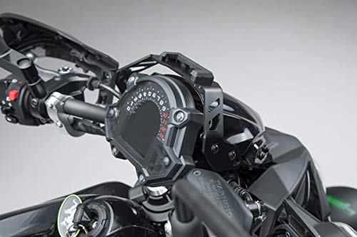 SW-Motech GPS.08.866.10000/B Abnehmbarer Navi-Halter im Cockpit für Kawasaki Z650 2016, Schwarz