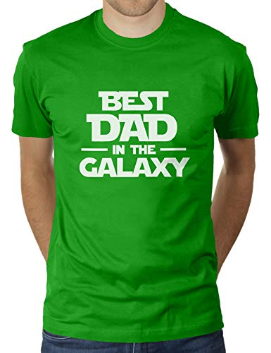 KaterLikoli Best Dad In The Galaxy - Camiseta para hombre Verde manzana L