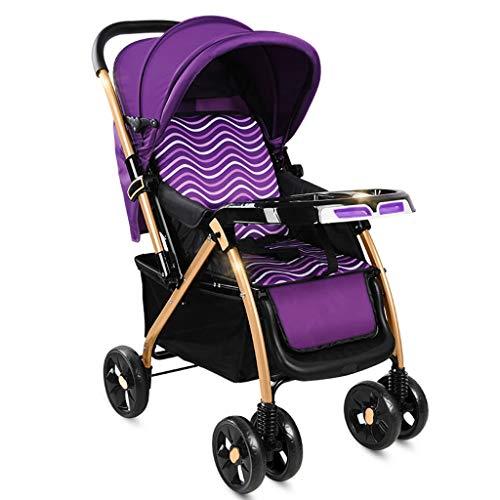 Jixi El Cochecito de bebé se Puede sentar El Cochecito del Cochecito reclinable se dobla con la luz con mosquitero Amortiguador de Dos vías Cochecito de bebé (Color : C)