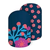 She Blooms - Jamberry Nail Wraps - Full Sheet - Coral Pink & Navy Floral