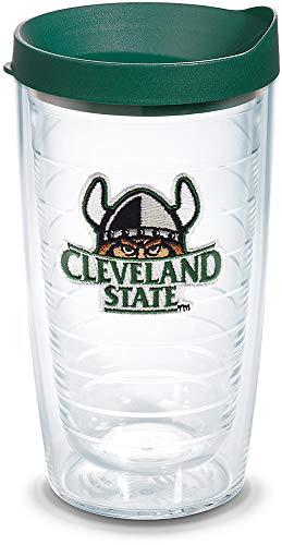 Tervis Cleveland State Vikings Logo Becher mit Emblem und Hunter Green Deckel, 473 ml, transparent