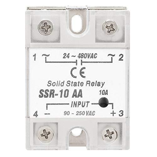 Relé de estado sólido SSR-10 AA Módulo de relé 10A Controlador de termostato SSR PID Relé AC-AC con disipador de calor
