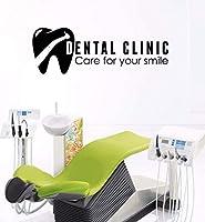 UYEDSRウォールステッカー歯のヘルスケアウォールステッカーStomatologyサインウィンドウステッカー歯科医院ロゴ壁ポスターあなたの笑顔の壁の装飾のケア123x42cm