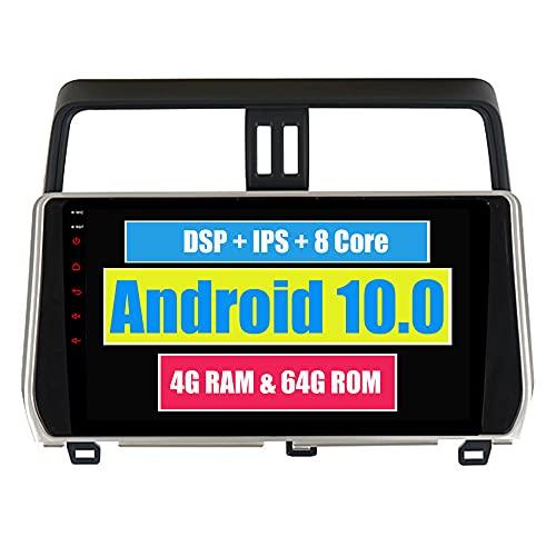 RoverOne 10,2 Pouces Système Android Octa Core Autoradio Lecteur GPS de Voiture pour Toyota Prado 2018 avec Navigation Radio stéréo Bluetooth Mirror Link Full écran Tactile