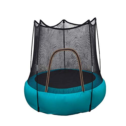 HOTDESIRE NEW Mini Trampoline, 3FT 46' with Safety Net Enclosure, Indoor Outdoor Kids Activity Junior Trampoline
