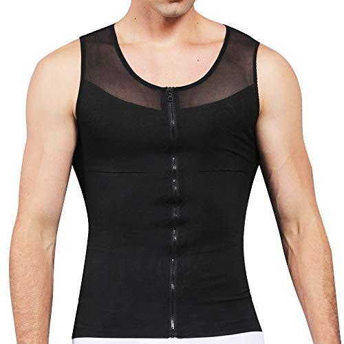 SLIMBELLE Body Shaper heren Shapewear compressieondergoed tank top buikweg figuurvormende shape shirt onderhemd voor mannen afvallen sport fitness lijfje