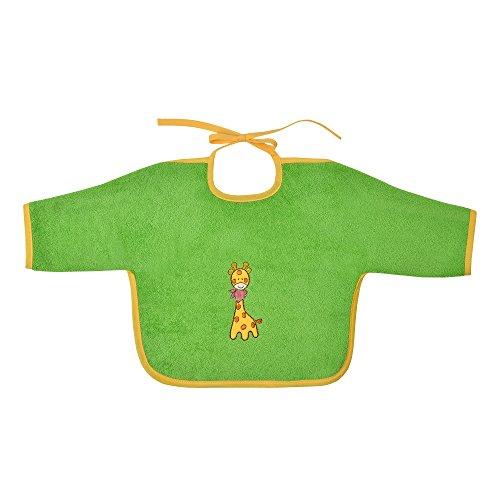 Mauz by wörner bébé girafe kiwi «bavoirs, serviettes de bain et gant de bain poncho, vert, Ärmellätzchen 68x34 cm