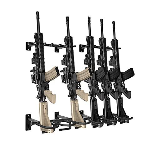 Nswern Gun Rack Wall Mount 2x3-slot Gun Free-Standing Rifle...