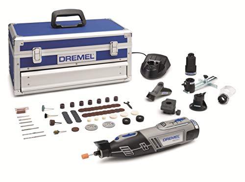 Dremel Platinum Edition 8220 - Multiherramienta inalámbrica, 12 V, kit con 5 complementos, 65 accesorios, velocidad 5.000 - 35.000 rpm para tallar, grabar, fresar, amolar, pulir, cortar y lijar