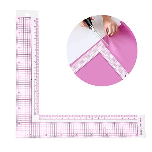 Jadpes Plastic L-Square Vorm Luler, Franse Curve Naaien Maatregel Professionele Tailor Craft Tool Tailor Tekenen Naaimachine Tekenen Craft Tool