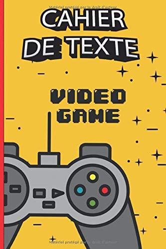 Cahier de texte scolaire 17x22 cm,Papier Seyes Grands Carreaux, onglets hebdomadaires pour se repérer facilement - format pratique pour les cartables -thème jeux vidéo