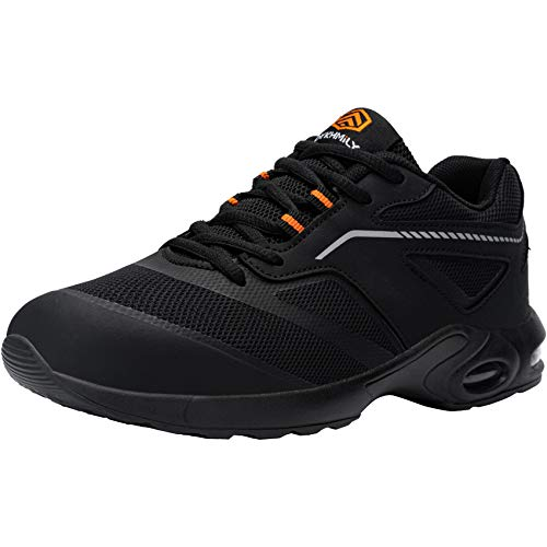 DYKHMILY Zapatillas de Seguridad Hombre Ligeras Colchón Zapatos de Seguridad Trabajo Punta...