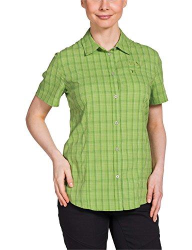 Jack Wolfskin Damen Bluse Centaura Stretch Vent Shirt, Parrot Green Checks, M, 1401621-7087003
