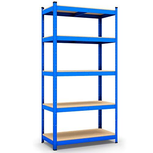 Panorama24 Lagerregal blau belastbar bis 875kg - Maße: 200 x 120 x 50 cm, Regal Kellerregal Steckregal Werkstattregal Schwerlastregal