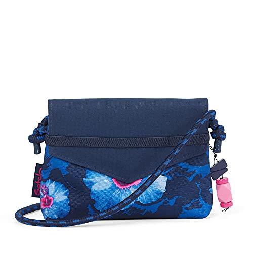 satch Clutch - mit großem Hauptfach und Spiegel, extra Reißverschlussfach - Waikiki Blue - Blau