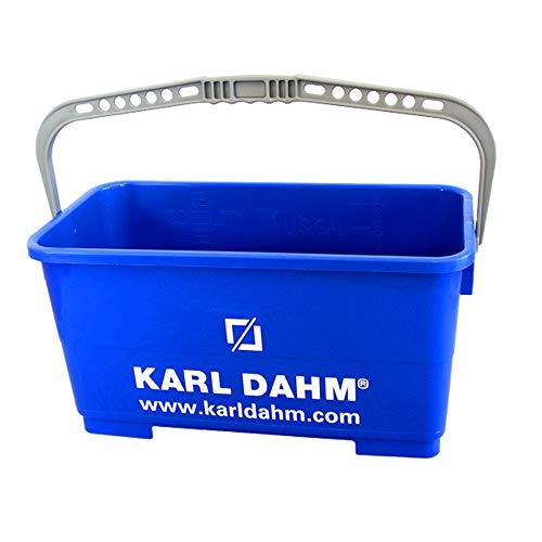 Karl Dahm 25 Liter-Ersatzeimer für Fliesen-Waschset I Langlebiger Fliesen-Wascheimer mit stabilem Henkel I Mehrzweck-Fliesenzubehör, robustes Kunststoffmaterial, blau – 11320