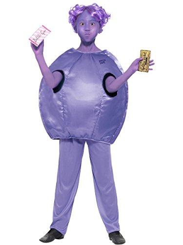 Smiffys Violet Beauregarde - Roald Dahl - Disfraz de Disfraz para nios - Mediano - 143cm - Edad 7-9