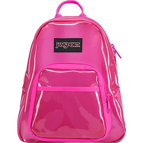 JanSport Half Pint FX Mini Backpack - Ideal Day Bag for Travel & Sightseeing | Translucent Pink