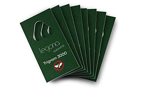 Legona® - Schlupfwespen gegen Kleidermotten / 8X Trigram-Karte à 1 Lieferung/Effektive & Biologische Bekämpfung von Textilmotten/Alternative zu Mottenspray und Mottenkugeln