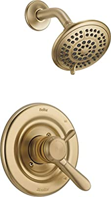 Delta Faucet Lahara 17 Series Dual-Function Shower Trim Kit with 5-Spray Touch-Clean Shower Head