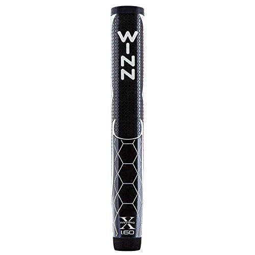 Winn Pro X Putter Grips, 1.60-Inch, Black/Silver