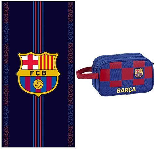 rainbowFUN.de FC Barcelona - Neceser y toalla de mano