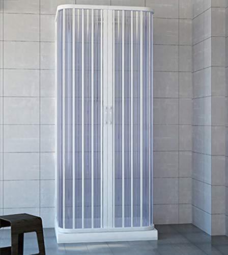 Box doccia 3 lati a soffietto cm. 70x70x70 riducibile su misura, in acrilico pvc