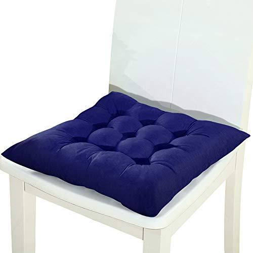 Vierkant zitkussen voor buiten, tuin, terras, keuken, kantoor, zitkussen. 40x40cm Blauw
