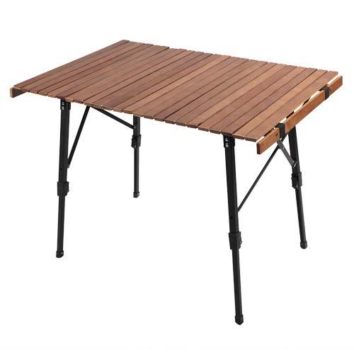 [クイックキャンプ] QUICKCAMP アウトドア キャンプ ウッドフォールディングテーブル 90cm 折りたたみ 折り...