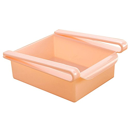 Tonpot 1Pcs Kunststoff Kühlschrank Regal IceBox Lagerung Organizer Container Fall, Plastik, Rose, 15.5x16.5x7cm
