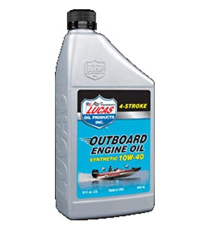 engine oils Lucas Oil Synthetic SAE 10W-40 Outboard Engine Oil, Quart