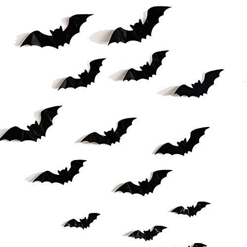 NBCDY DIY Bat Muursticker, Eenvoudige Impactful Halloween Home Decal Decoratie Behang, voor Trick-or-Treaters Kids Room Window Wall Art Sticker Kasten Boekenkast