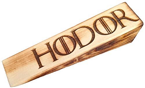 Hodor Door Stop   Doorstop   Burned Wood Finish, Forged in fire Made to Hold The Door, Novelty Doorstop