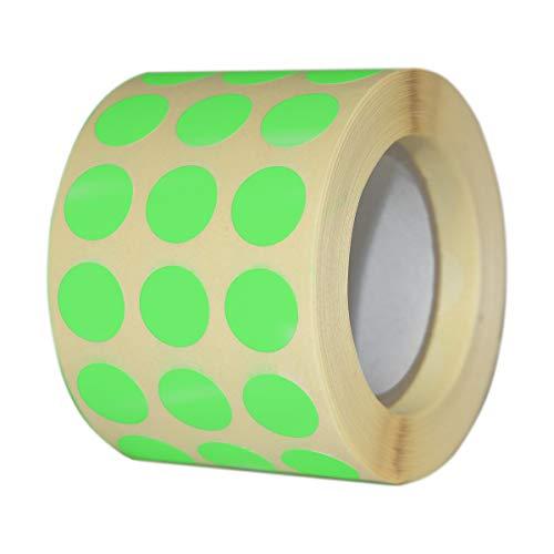 Etichette Adesive Rotondi Multiuso Bollini Colorati 13x13 mm 3000 pz. (Verde Fluo)