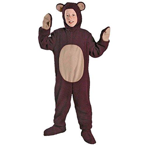 YFCH Traje de Disfraz Animal para Niños Niñas Pijama de Una Pieza con Capucha para Festival de Carnaval Halloween Navidad, Oso, L/Altura: 105-125cm
