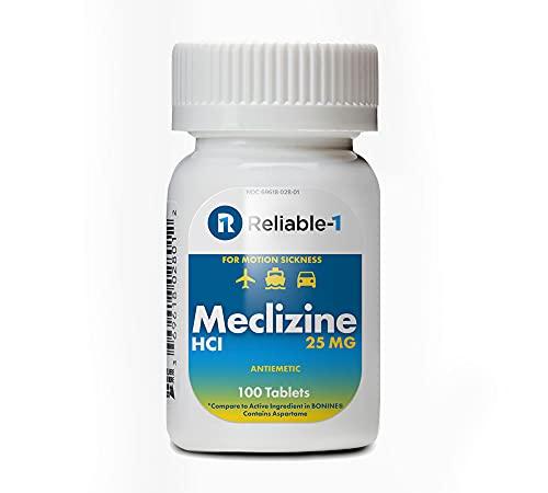 RELIABLE 1 LABORATORIES Meclizine HCL 25mg 100 Tablets (1 Bottle)